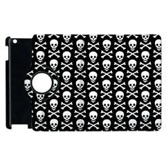 Skull and Crossbones Pattern Apple iPad 3/4 Flip 360 Case