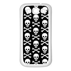 Skull And Crossbones Pattern Samsung Galaxy S3 Back Case (white)