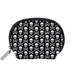 Skull and Crossbones Pattern Accessory Pouch (Small)