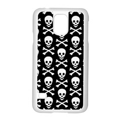 Skull and Crossbones Pattern Samsung Galaxy S5 Case (White)