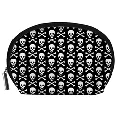 Skull And Crossbones Pattern Accessory Pouch (large)