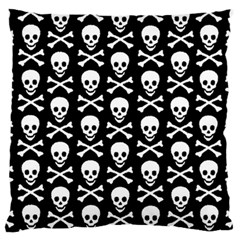Skull and Crossbones Pattern Large Flano Cushion Case (One Side)