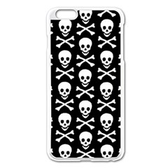 Skull and Crossbones Pattern Apple iPhone 6 Plus Enamel White Case