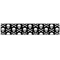 Skull and Crossbones Pattern Flano Scarf (Large)