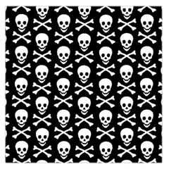 Skull And Crossbones Pattern Large Satin Scarf (square)