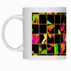 Pieces In Squares White Mug