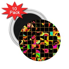 Pieces In Squares 2 25  Magnet (10 Pack)