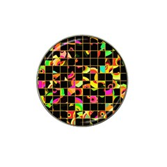 Pieces In Squares Hat Clip Ball Marker (10 Pack)