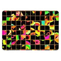 Pieces In Squares Samsung Galaxy Tab 8 9  P7300 Flip Case