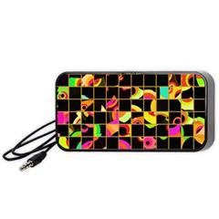Pieces In Squares Portable Speaker