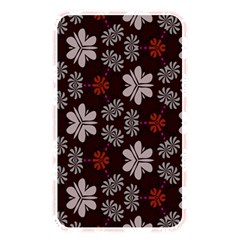 Floral Pattern On A Brown Background Memory Card Reader (rectangular)