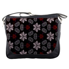 Floral Pattern On A Brown Background Messenger Bag