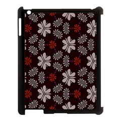 Floral Pattern On A Brown Background Apple Ipad 3/4 Case (black)