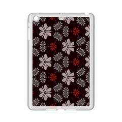 Floral Pattern On A Brown Background Apple Ipad Mini 2 Case (white)