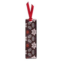 Floral Pattern On A Brown Background Small Book Mark