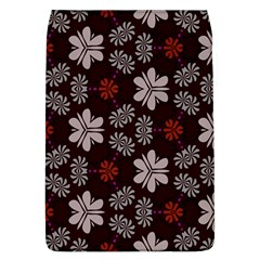 Floral Pattern On A Brown Background Removable Flap Cover (l)