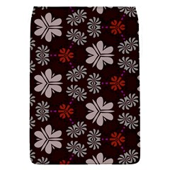 Floral Pattern On A Brown Background Removable Flap Cover (s)