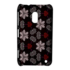Floral Pattern On A Brown Background Nokia Lumia 620 Hardshell Case