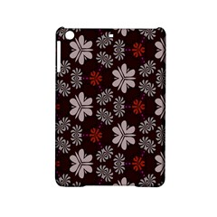 Floral Pattern On A Brown Background Apple Ipad Mini 2 Hardshell Case