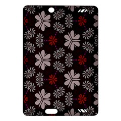 Floral pattern on a brown background Kindle Fire HD (2013) Hardshell Case