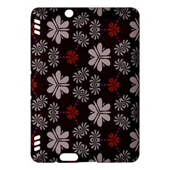 Floral Pattern On A Brown Background Kindle Fire Hdx Hardshell Case