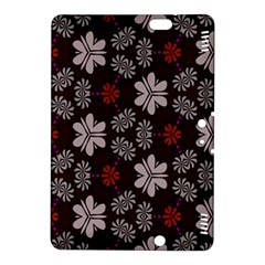 Floral Pattern On A Brown Background Kindle Fire Hdx 8 9  Hardshell Case