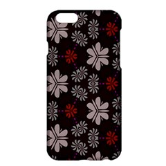 Floral Pattern On A Brown Backgroundapple Iphone 6 Plus Hardshell Case