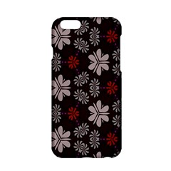 Floral Pattern On A Brown Background Apple Iphone 6 Hardshell Case