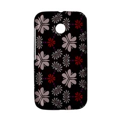 Floral pattern on a brown background Motorola Moto E Hardshell Case