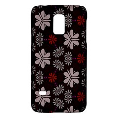Floral pattern on a brown backgroundSamsung Galaxy S5 Mini Hardshell Case