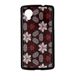 Floral pattern on a brown background Google Nexus 5 Case