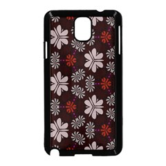 Floral pattern on a brown background Samsung Galaxy Note 3 Neo Hardshell Case