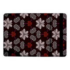 Floral Pattern On A Brown Backgroundsamsung Galaxy Tab Pro 10 1  Flip Case