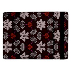 Floral pattern on a brown backgroundSamsung Galaxy Tab Pro 12.2  Flip Case