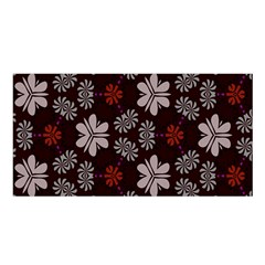 Floral pattern on a brown background Satin Shawl