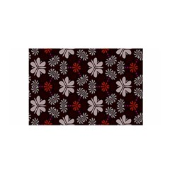 Floral pattern on a brown background Satin Wrap
