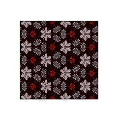 Floral pattern on a brown background Satin Bandana Scarf