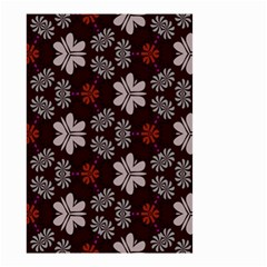 Floral pattern on a brown background Small Garden Flag