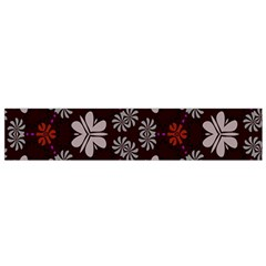 Floral pattern on a brown background Flano Scarf
