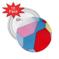 Colorful Pastel Shapes 2 25  Button (10 Pack)