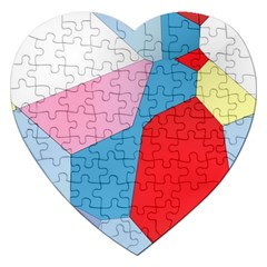 Colorful Pastel Shapes Jigsaw Puzzle (heart)
