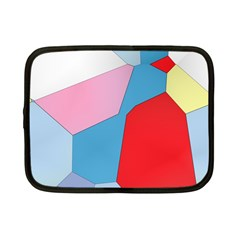Colorful Pastel Shapes Netbook Case (small)