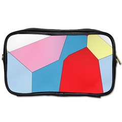 Colorful Pastel Shapes Toiletries Bag (two Sides)