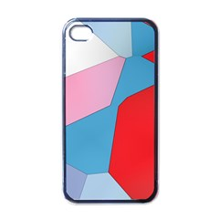 Colorful Pastel Shapes Apple Iphone 4 Case (black)
