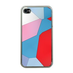 Colorful Pastel Shapes Apple Iphone 4 Case (clear)