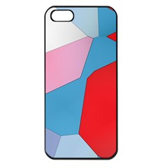 Colorful Pastel Shapes Apple Iphone 5 Seamless Case (black)