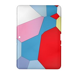 Colorful pastel shapes Samsung Galaxy Tab 2 (10.1 ) P5100 Hardshell Case