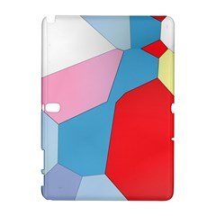 Colorful pastel shapes Samsung Galaxy Note 10.1 (P600) Hardshell Case