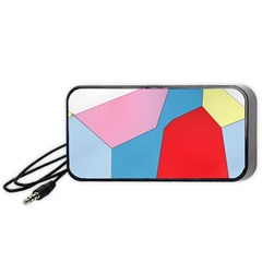 Colorful Pastel Shapes Portable Speaker