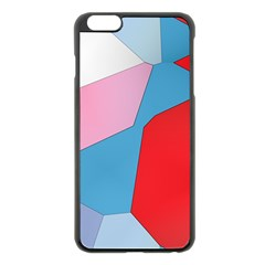 Colorful pastel shapes Apple iPhone 6 Plus Black Enamel Case